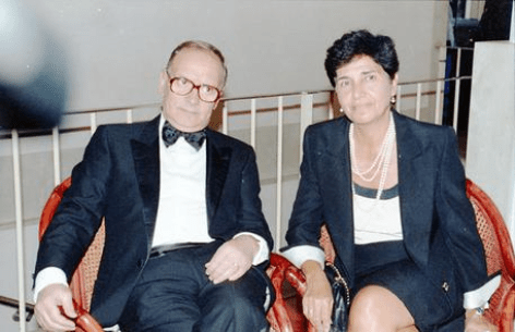 Ennio Morricone with is wife, Maria