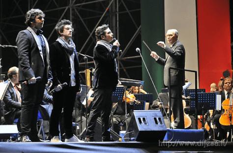 IL VOLO singing E Più Ti Penso with Ennio Morricone directing