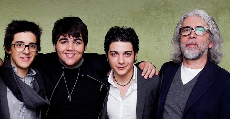Left to right: A young Piero, Ignazio, Gianluca and Michele Torpedine