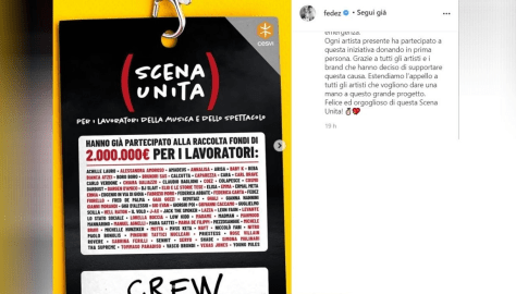 A backstage tag with the names of all the participants of Scena Unita