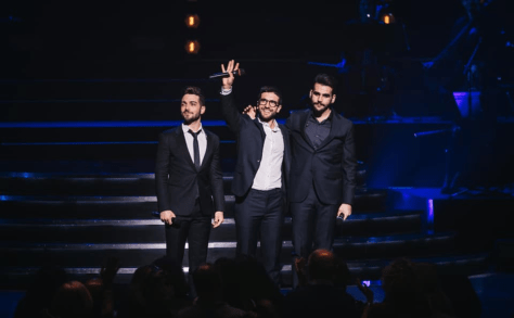 Left to right: Gianluca, Piero and Ignazio on stage