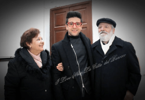 Left to right: grandmother Rina, Piero and grandfather Pietro