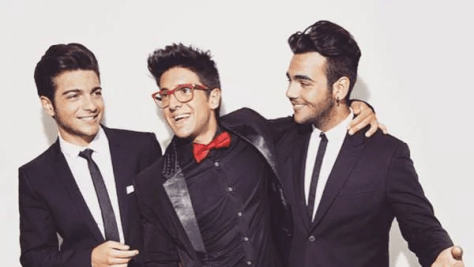 Left to right: Gianluca, Piero and Ignazio in black and white suits - Piero has a red bow tie