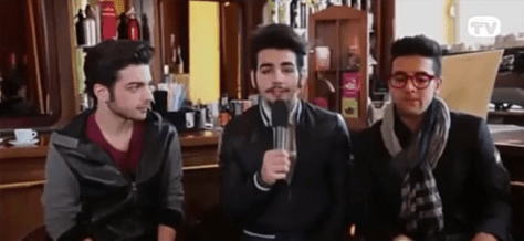 Left to right: Gianluca, Ignazio and Piero before soundcheck