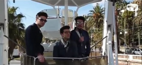 Left to right: Ginaluca, Piero and Ignazio on a boat Day 2