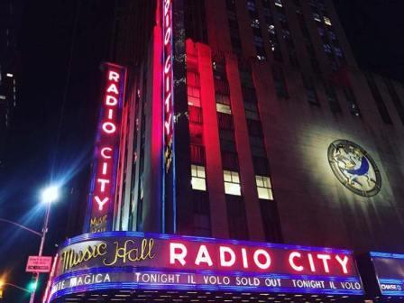 Photo of Radio City Musica hall lights