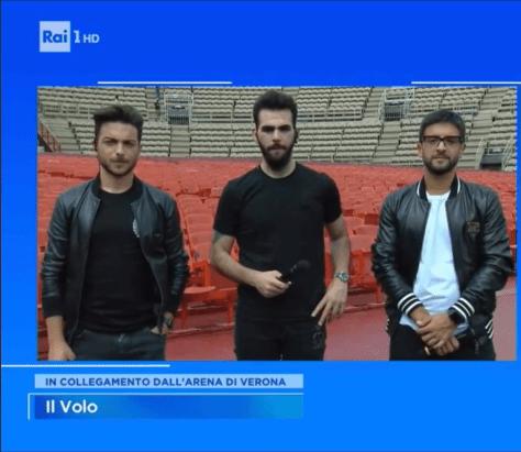 Left to right: Gianluca, Ignazio and Piero in Verona Arena