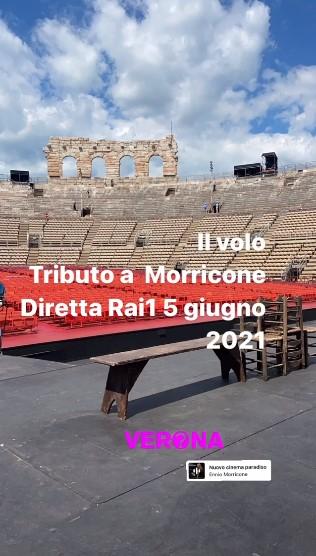 Screen shot of Verona Arena with concert information