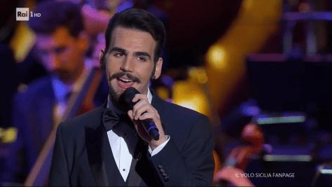 Ignazio in tuxedo singing