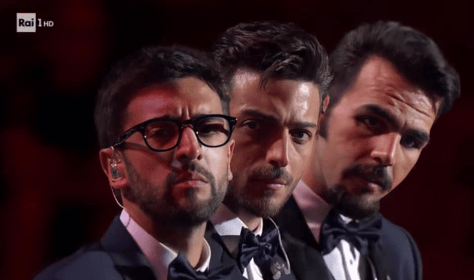 Serious looks close up from Piero, Gianluca and Ignazio