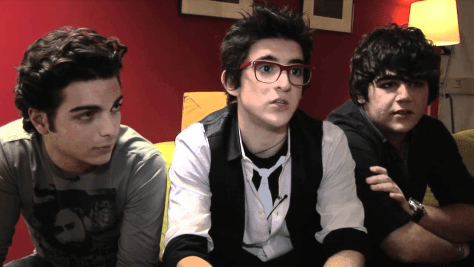 Left to right: Gianluca, Piero and Ignazio sitting on a sofa during an interview