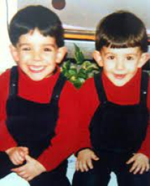 A very young Piero with his young brother, Francesco