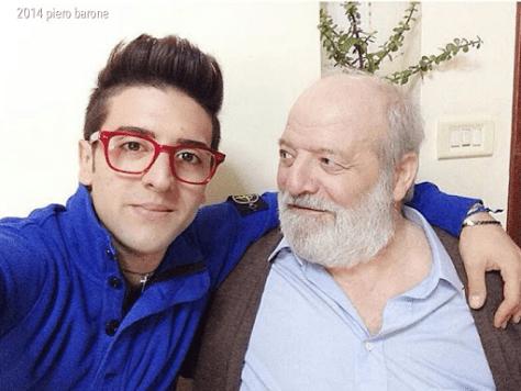 Piero with his grandfather, Pietro