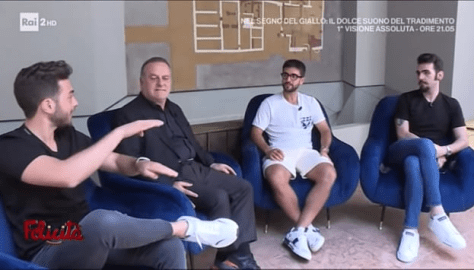 IL VOLO being interviewed by Pascal Vicedomini