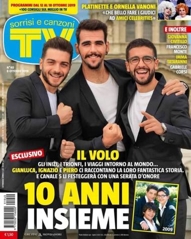 IL VOLO on the cover of Sorrisi e Canzoni TV magazine