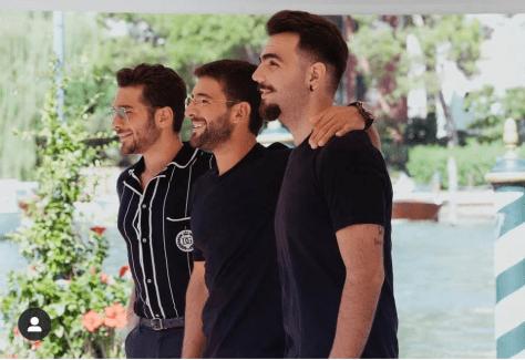 Left to right: Gianluca, Piero and Ignazio
