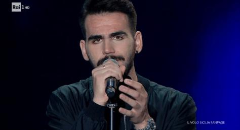 Closeup of Ignazio singing
