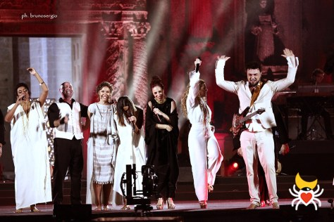 Performers on the Notte della Taranta stage