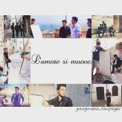 @gianginoble_fanpage11 Collage of video stills filming in Abruzzi 9/2015