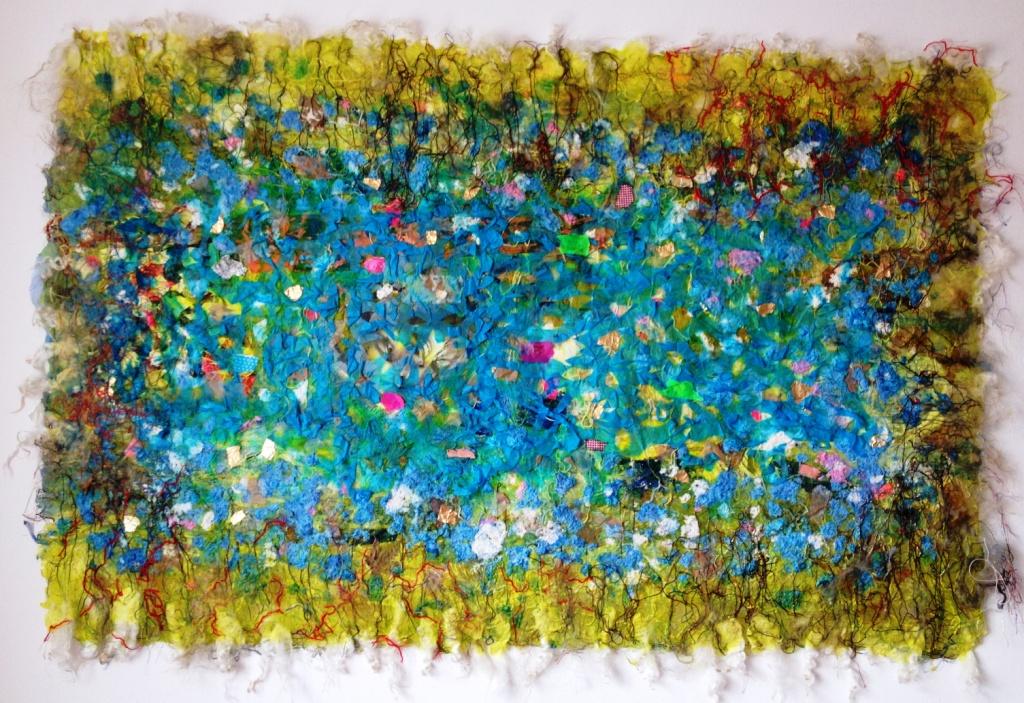 """Tekstil collage """"Stien"""""""