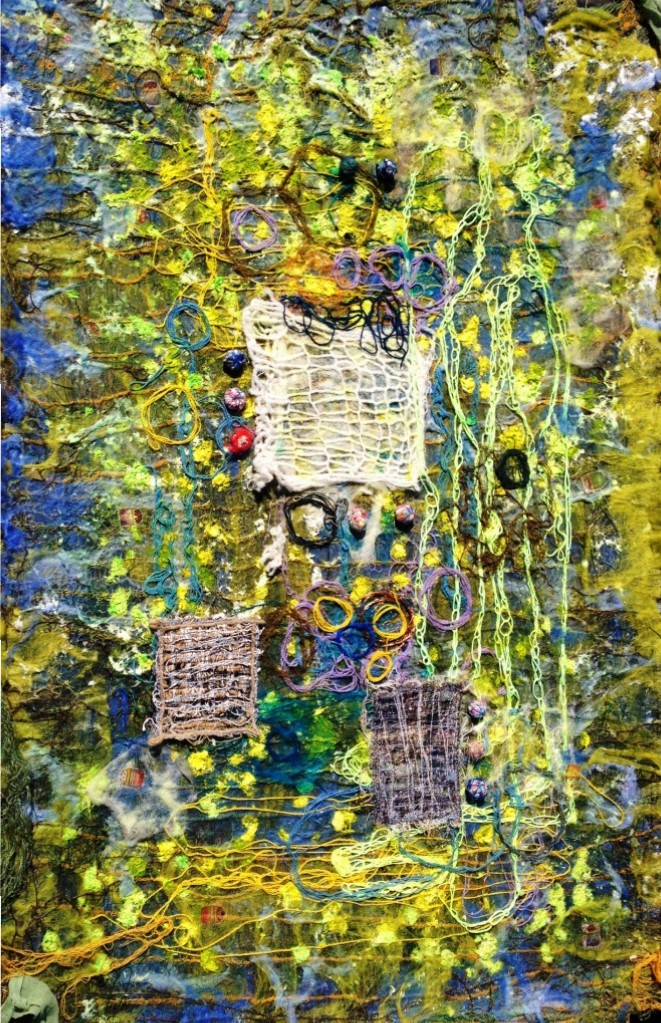 "Tekstil collage ""Legen"""