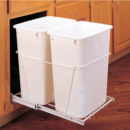 Rev A Shelf Double Pull Out Waste Containers 2 X 27