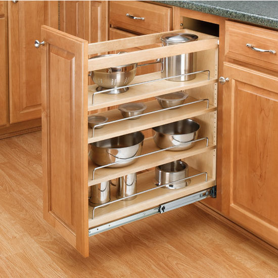 Cabinet Organizers Adjustable Wood Pull Out Kitchen