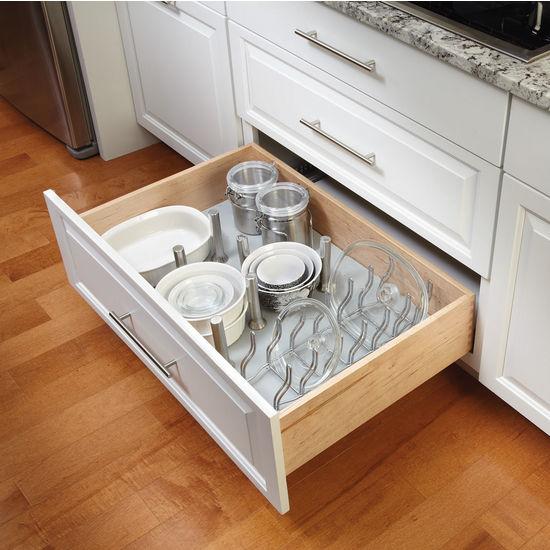 rev-a-shelf vinyl peg board drawer organizer system with free