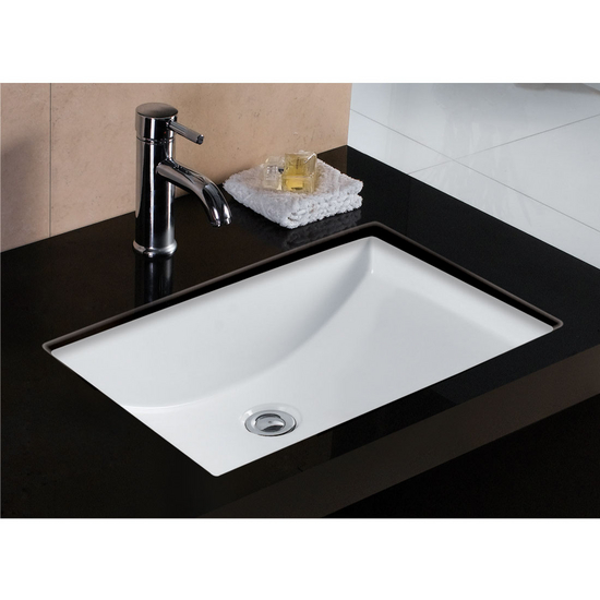 wells sinkware wl-rtu2216-6 rhythm series china undermount bathroom