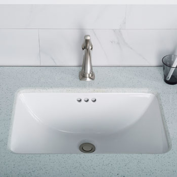 white ceramic undermount bathroom sink