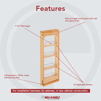 kitchen wall cabinet filler pull out