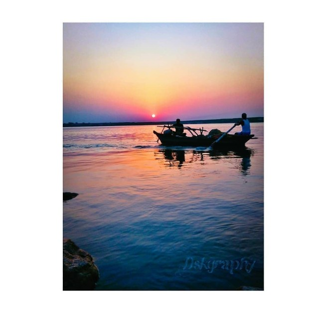 ©Copyright image  by DSK → Evening at Kashtahrani Ghat, Munger