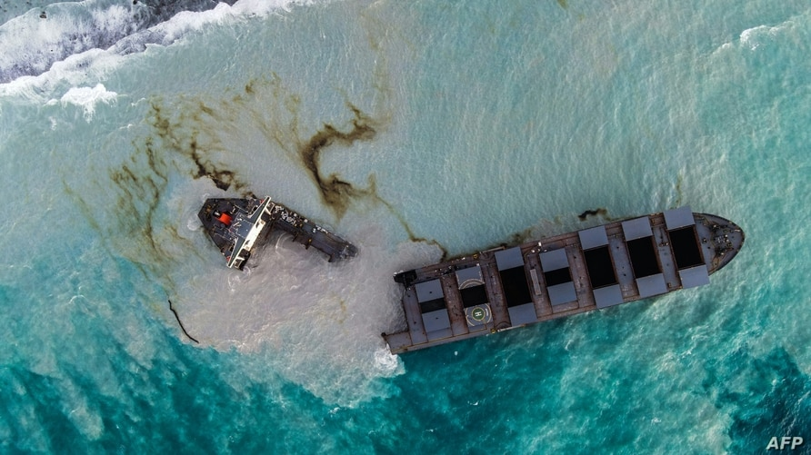 """The Mauritian government is preparing to sink the largest part of the Japanese vessel that caused a massive oil spill in the island's waters, after it broke in two at the weekend. Government adviser, Ken Arian said this on Monday. """"The front part, which is the longest and biggest part will be sunk,'' Arian told […]"""