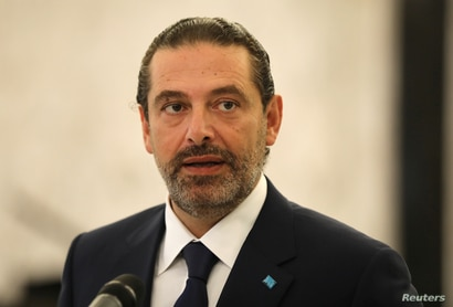 Former Lebanese Prime Minister Saad Hariri speaks at the presidential palace in Baabda, Lebanon August 31, 2020. REUTERS…