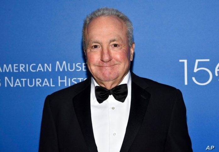 FILE - In this November 21, 2019, file photo creator Lorne Michaels attends the American Museum of Natural History 2019 Museum...