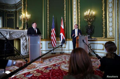 U.S. Secretary of State Mike Pompeo visits London
