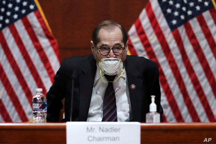 House Judiciary Committee Chairman Jerry Nadler, D-N.Y., arrives for a House Judiciary Committee hearing on the oversight of…