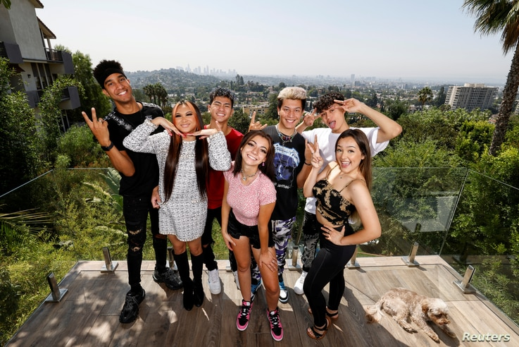 TIKTOK house in the Hollywood hills of Los Angeles