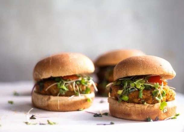 this chickpea burger is gluten-free and delicious