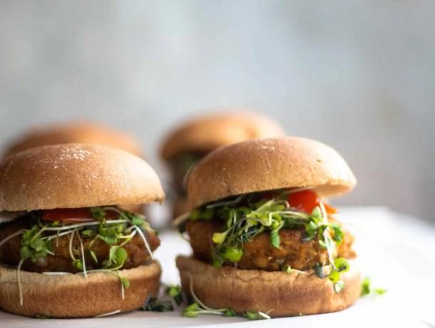 vegan gluten-free chickpea burger