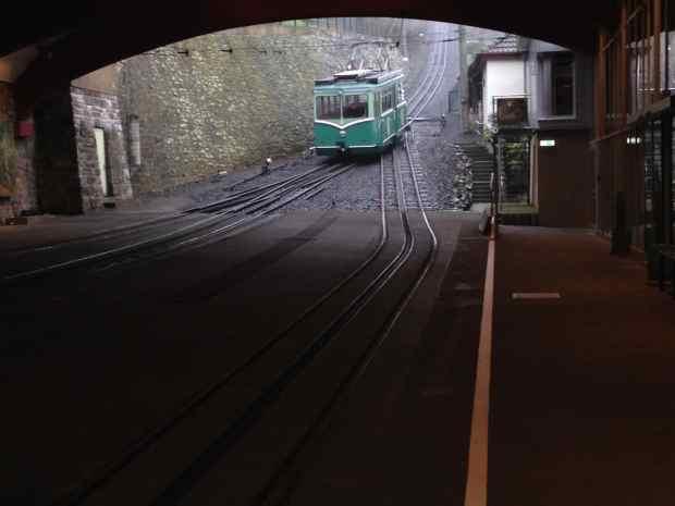 Einfahrt Drachenfelsbahn Königswinter