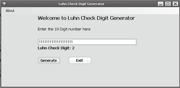 Luhn Check Application