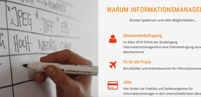 Neue Website für Informationsmanagement