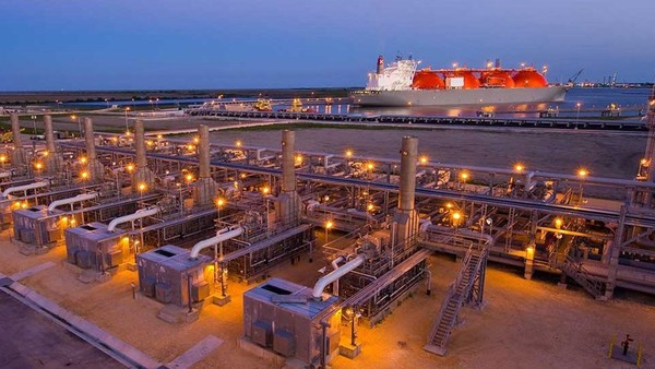 The Cheniere Energy LNG plant at Sabine Pass USA. Image courtesy Bechtel Engineering.