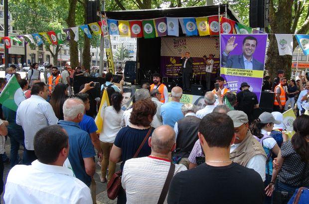 HDP Almanya mitingin AK Parti Dışişleri Bakanlığı Köln