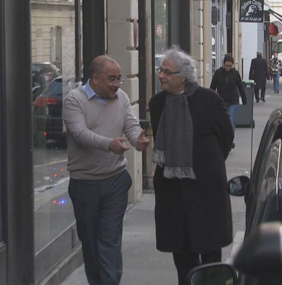 """Kürşad Oğuz, Amin Maalouf'la Aralık ayında da, son kitabı """"Medeniyetlerin Batışı""""nı konuşmak için Paris'te buluşmuştu."""