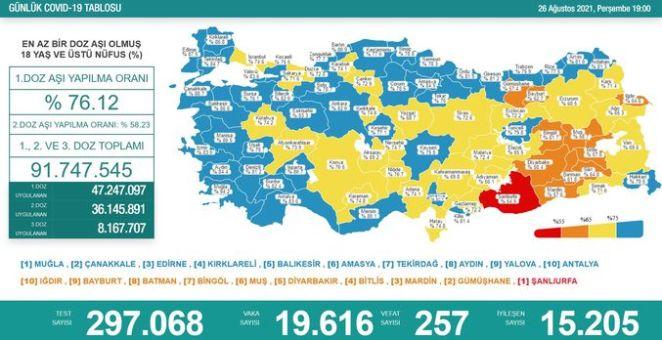 SON DAKİKA CORONA VAKA SAYISI! 26 Ağustos koronavirüs tablosu 2021 açıklandı 14