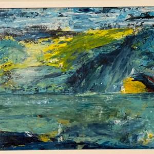 """Wild life 1"". Akryl. 45 x 65 cm. Såld"