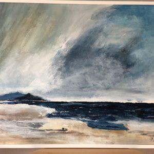 Havet, akryl, 89 x70. Såld