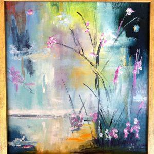 """Blomsterglädje""    Olja, 30 x 29 cm"